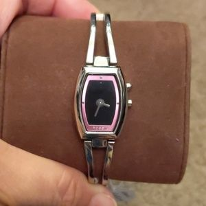 Fossil Watch Pink Silver Big Tic